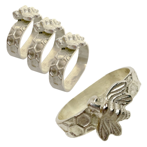 SET OF 4 HONEY BEE NAPKIN RINGS