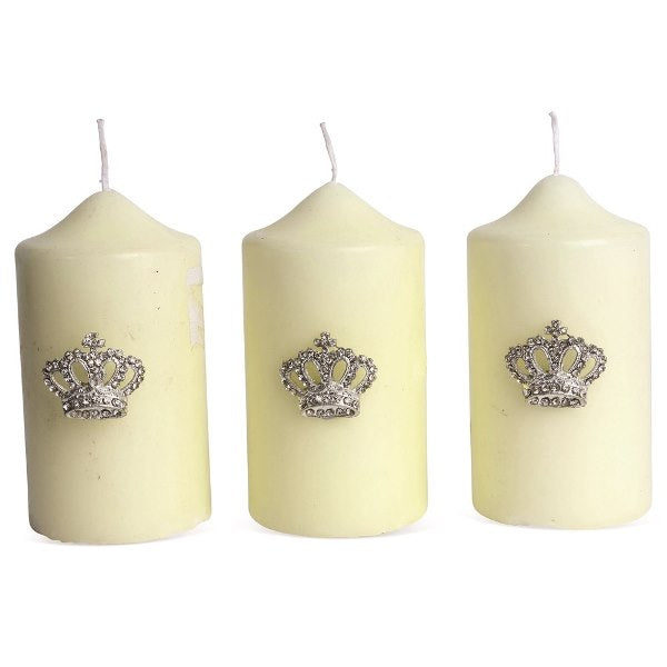 SET OF 3 CROWN CANDLE PINS