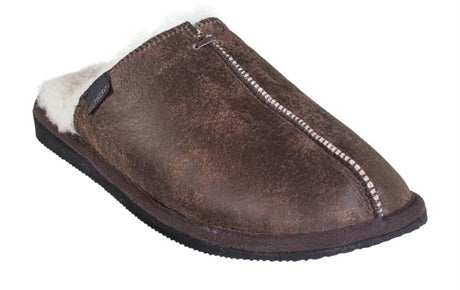 Hugo Men's Sheepskin Slippers - Oiled Antique