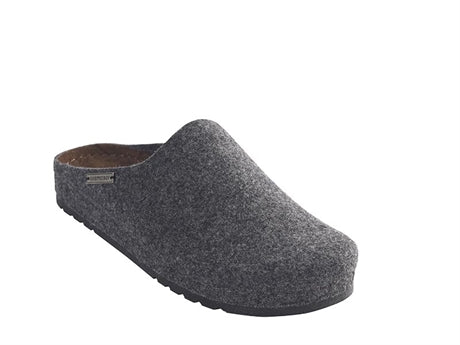 Isak Men's Wool Slippers - Grey