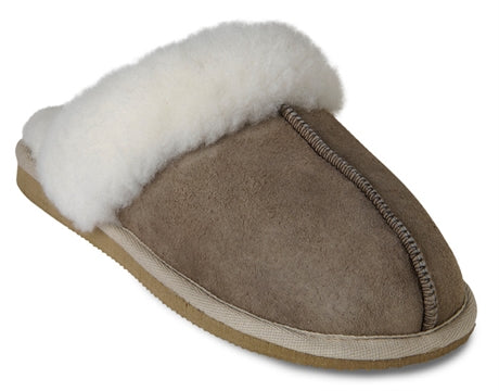 Jessica Sheepskin Ladies Slippers - Stone