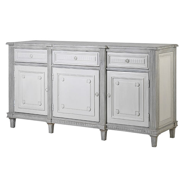 GREY & WHITE PAINTED SIDEBOARD