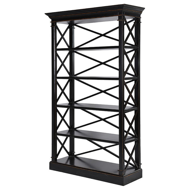 BLACK PAINTED SHELVING UNIT