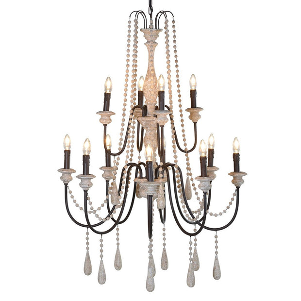 RUSTIC BEADED CANDELABRA