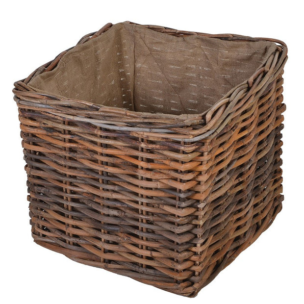Huge Lined Log Basket