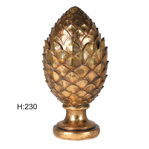 GOLD ARTICHOKE CONTAINER