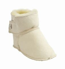 Boras Baby Slippers - White