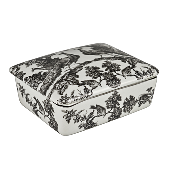 PEACOCK TOILET RECTANGULAR BOX