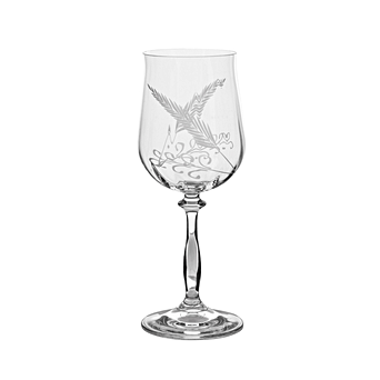 SET OF 6 NANCY ETCHED WINE GLASSES – TALL