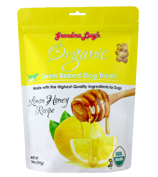 Grandma Lucy's Organic Oven Baked Honey Lemon Dog Treats (397g)