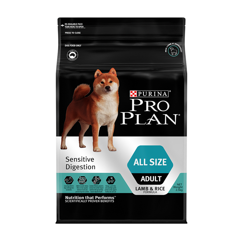 [20%] Pro Plan Sensitive Digestion - All Size Adult Dry Dog Food (2.5kg)