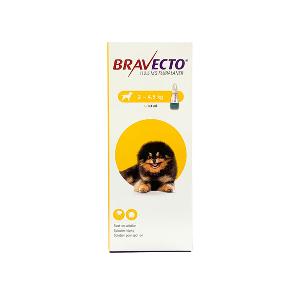 Bravecto Flea & Tick Spot On Solution For Dogs (2kg - 4.5kg)