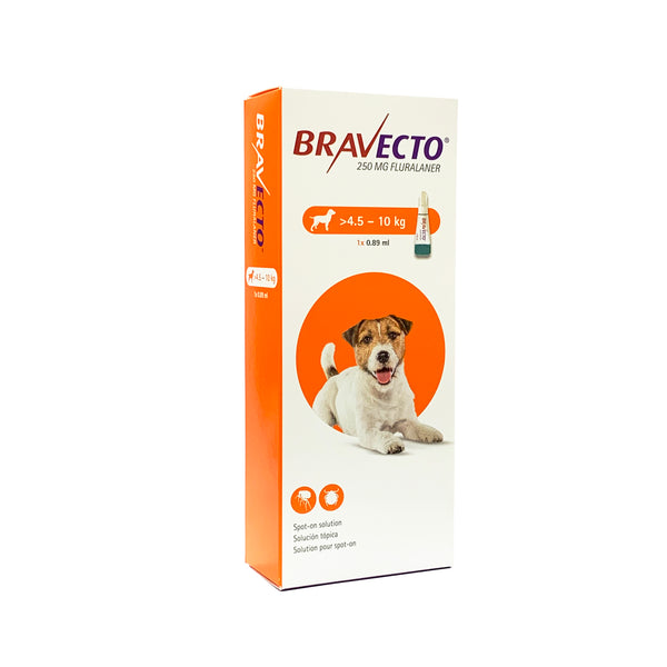 Bravecto Flea & Tick Spot On Solution For Dogs (4.5kg - 10kg)
