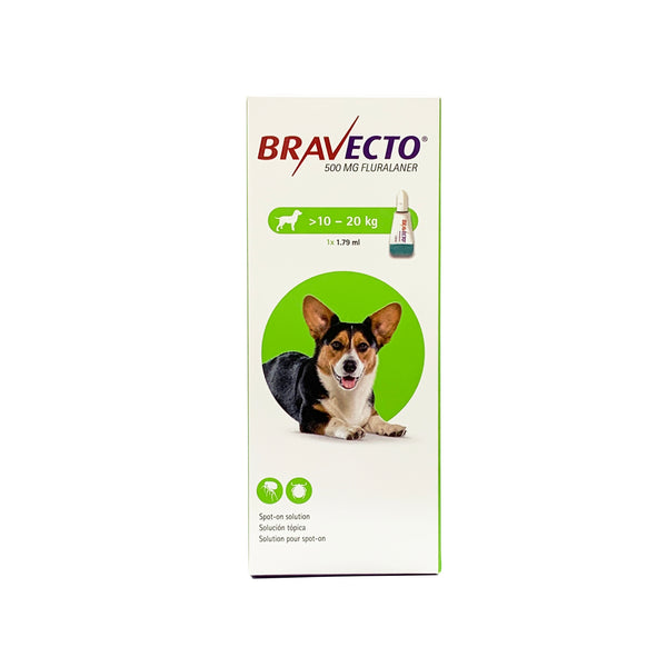 Bravecto Flea & Tick Spot On Solution For Dogs (10kg - 20kg)