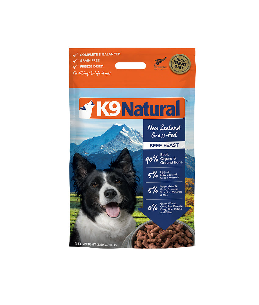 K9 Natural® Freeze-Dried Beef Feast Dog Food (3.6kg)