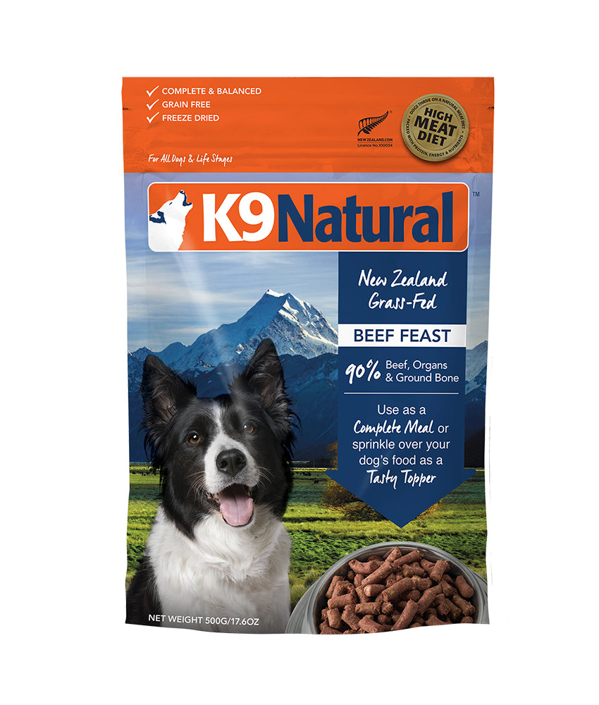 [20% OFF] K9 Natural® Freeze-Dried Beef Feast Dog Food (500g)
