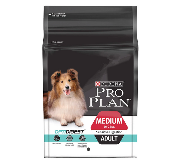 [20% OFF] Pro Plan OptiDigest - Sensitive Digestion Adult Dry Dog Food (2.5kg)