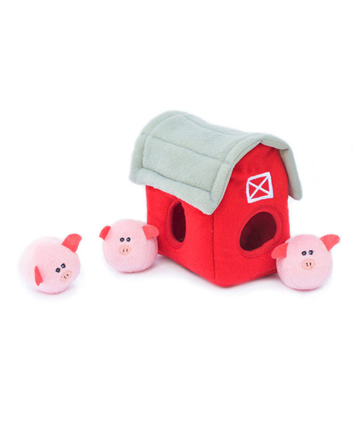 Zippypaws Burrow - Pig Barn with Bubble Babiez