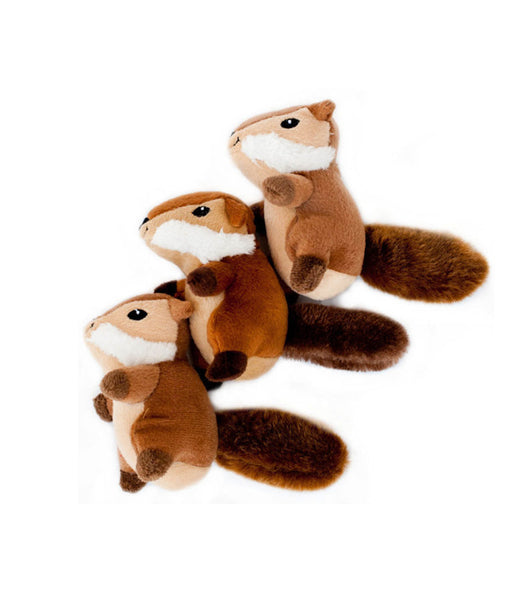 Zippypaws Miniz 3-Pack Chipmunks