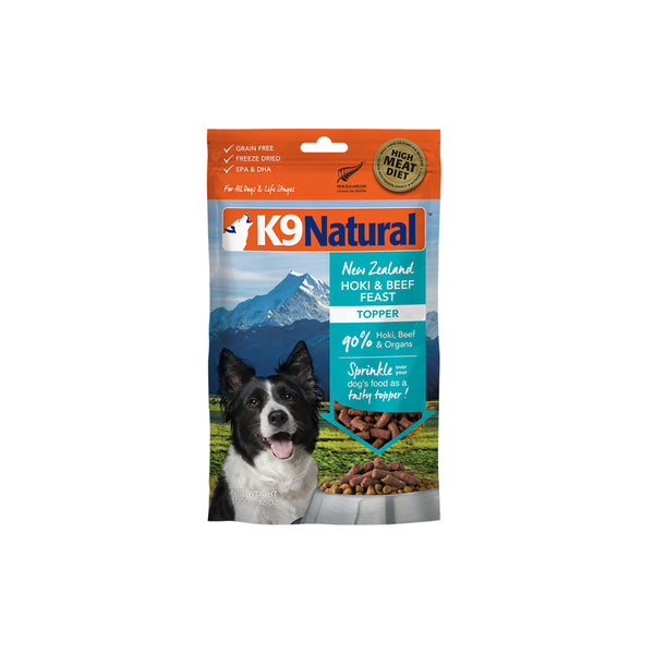 [20% OFF] K9 Natural Freeze Dried Hoki & Beef Feast Topper (100g)