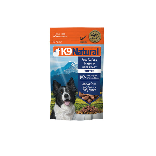 [20% OFF] K9 Natural Freeze Dried Beef Feast Topper (142g)