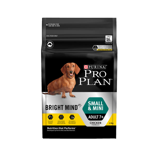 [20% OFF] Pro Plan® Bright Mind Adult 7+ Small & Mini Dry Dog Food (2.5kg)