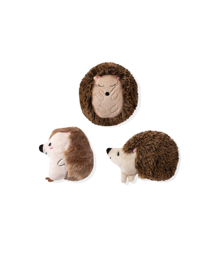 Toy Box Mini Hedgehogs Squeaky Plush Toy
