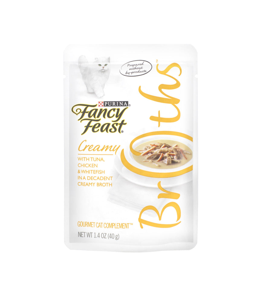 Fancy Feast Creamy Broths with Tuna, Chicken & Whitefish in a Decadent Creamy Broth (40g)
