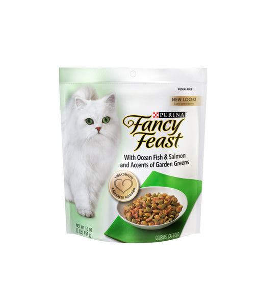 Fancy Feast with Ocean Fish & Salmon and Accents of Garden Greens (454g)