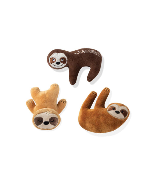 Toy Box Mini Basic Sloths Squeaky Plush Toy