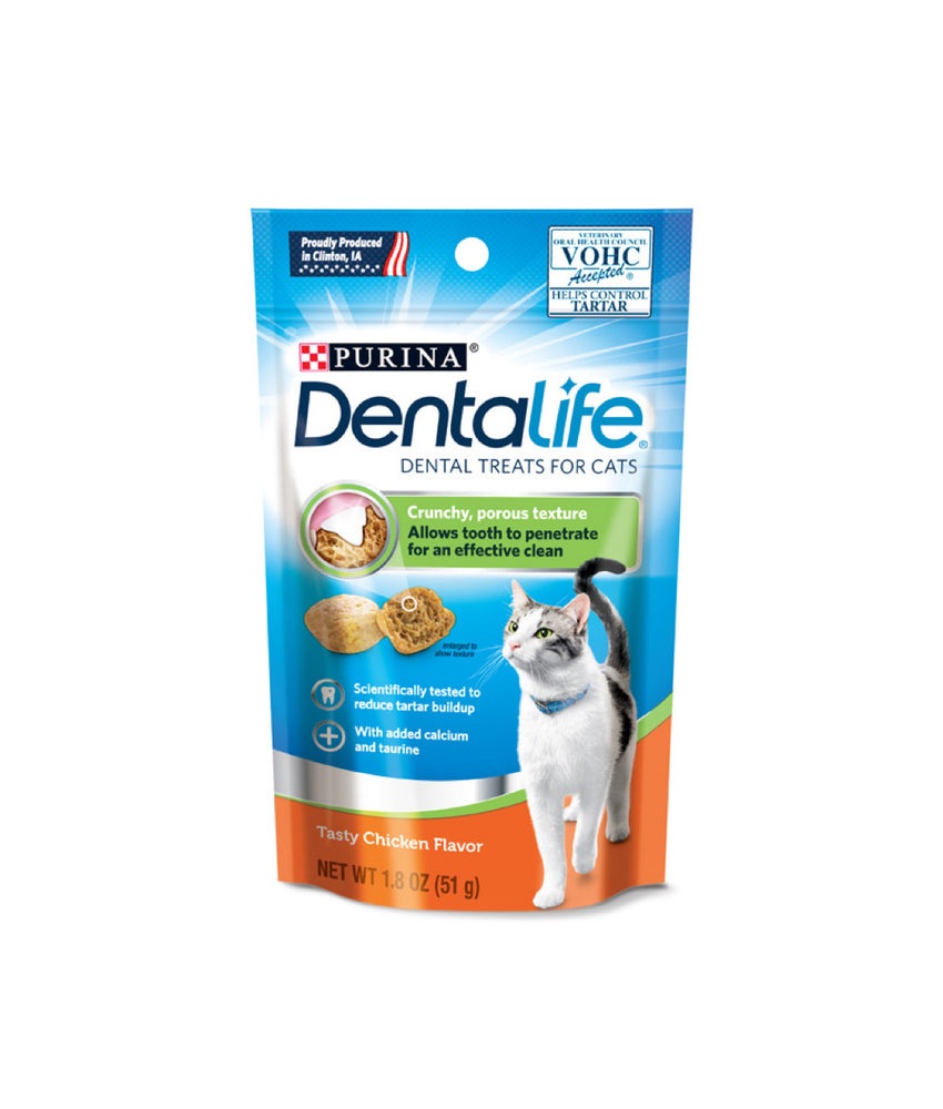 Dentalife Tasty Chicken Flavor Dental Treats For Cats (51g)