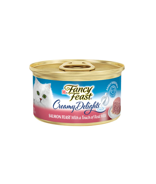 Fancy Feast Creamy Delights Salmon Feast With a Touch of Real Milk (85g)