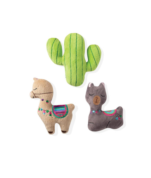 Toy Box Mini Llama Cactus Squeaky Plush Toy