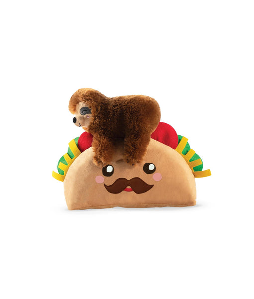 Toy Box Taco Sloth Squeaky Plush Toy