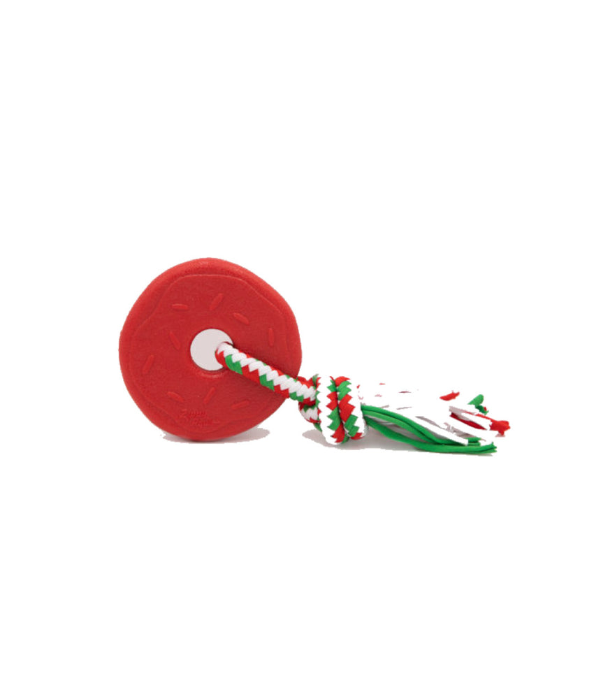 Holiday ZippyTuff Teether - Donut (Red)