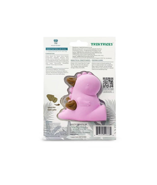 Natura Nourish Treatricks 2-in-1 Chicken Dental Chew Dog Toy (Baby T-Rex)