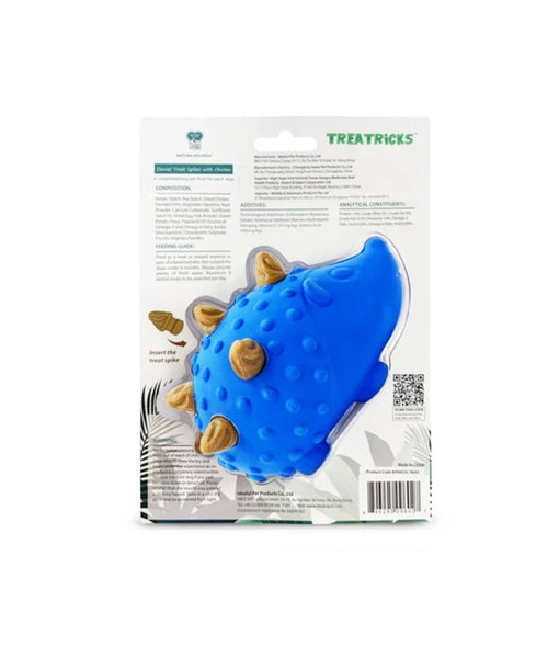 Natura Nourish Treatricks 2-in-1 Chicken Dental Chew Dog Toy (Hedgehog)