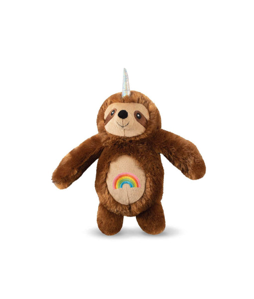 Toy Box Rainbow Slothicorn Squeaky Plush Toy
