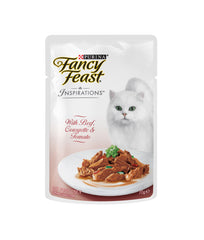 Fancy Feast Inspirations with Beef, Courgette & Tomato (70g)