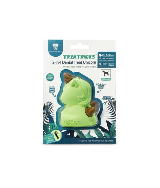 Natura Nourish Treatricks 2-in-1 Chicken Dental Chew Dog Toy (Baby Unicorn)