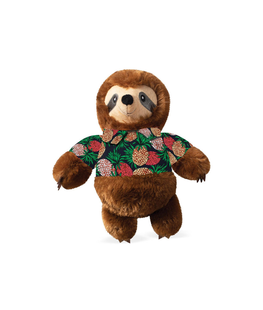 Fringe Studio Toy Box Vacay Vibes Sloth Squeaky Plush Toy