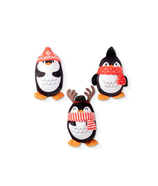 Santa's Pet Shop Mini Chillin' Penguins Squeaky Plush Toy