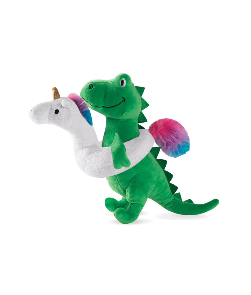 Toy Box Summa Time Rex Squeaky Plush Toy