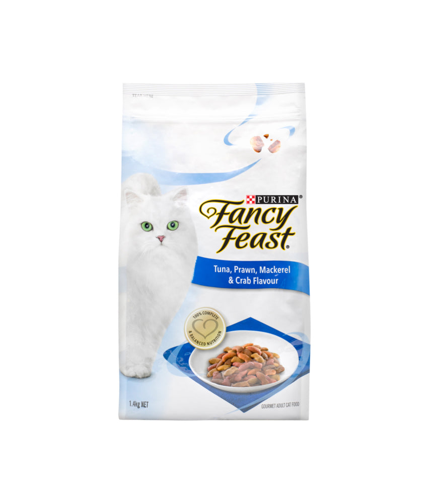 Fancy Feast Tuna, Prawn, Mackerel & Crab Flavour (1.4kg)