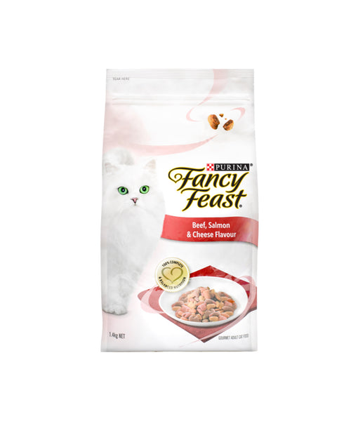 Fancy Feast Beef, Salmon & Cheese Flavour (1.4kg)