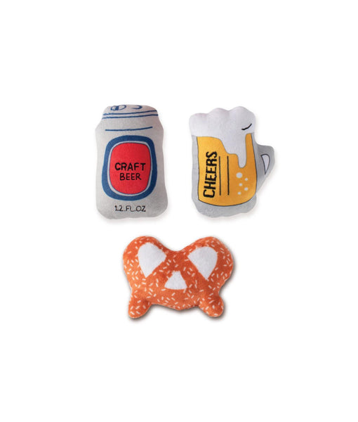 Toy Box Mini Beer Squeaky Plush Toy