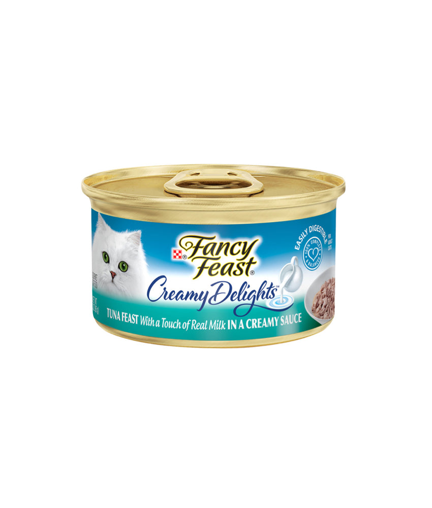 Fancy Feast Creamy Delights Tuna Feast With a Touch of Real Milk in a Creamy Sauce (85g)
