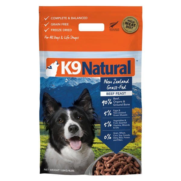 K9 Natural® Freeze-Dried Beef Feast Dog Food (1.8kg)