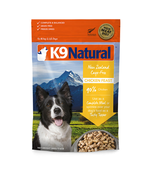 [20% OFF] K9 Natural® Freeze-Dried Chicken Feast Dog Food (500g)