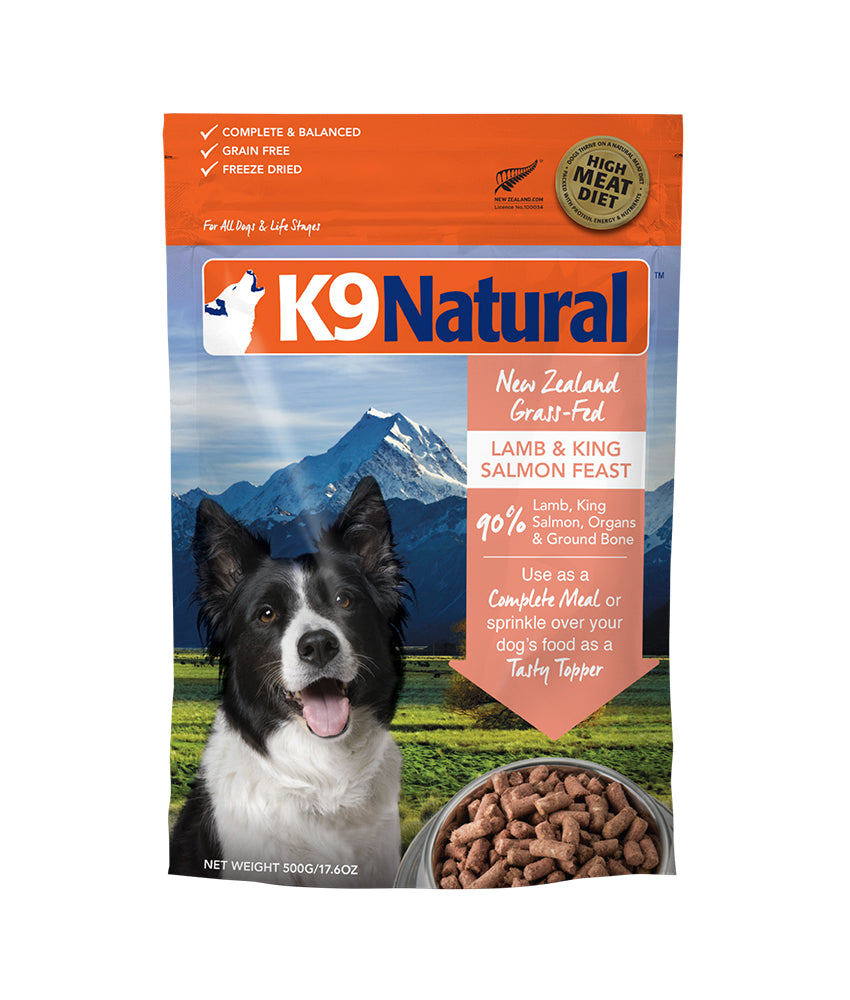 [20% OFF] K9 Natural® Freeze-Dried Lamb & King Salmon Feast Dog Food (500g)